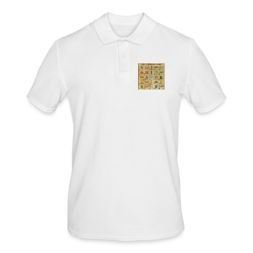 The Hieroglyphic Alphabet - Männer Poloshirt