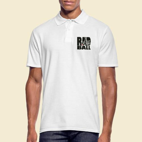 Radball   Typo Black - Männer Poloshirt