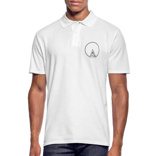 All sehendes Auge Pizza (schwarzer Druck) - Männer Poloshirt