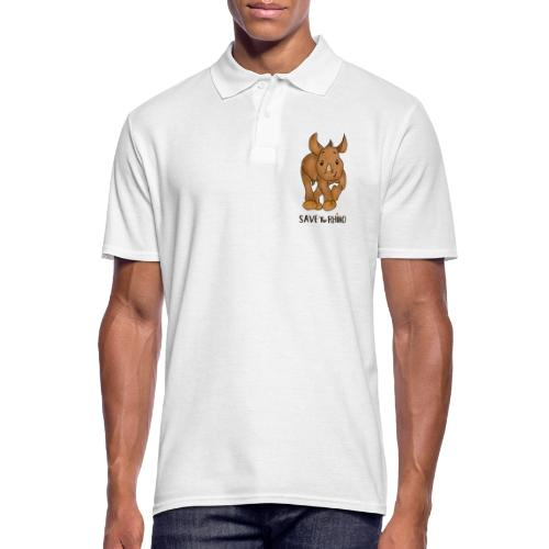 Save the Rhino - Men's Polo Shirt