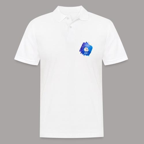 shirt blau tshirt druck - Männer Poloshirt