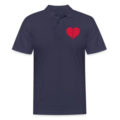 Schlüssel Herz - Männer Poloshirt