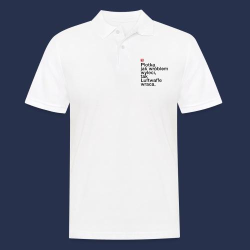 PLOTKA - napis ciemny - Koszulka polo męska