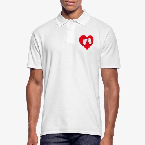 Schorle Liebe – Dubbegläser - Männer Poloshirt