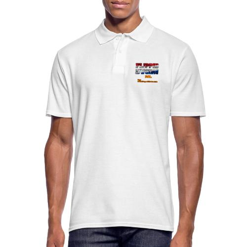 Flipped Racing, Red White and Blue - Men's Polo Shirt