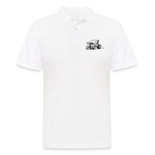 Futuristic design tractor - Men's Polo Shirt