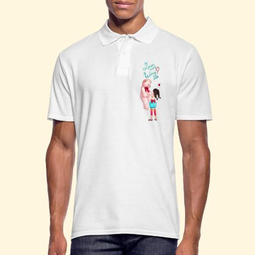 Fille au nounours - Love more Worry less - Polo Homme