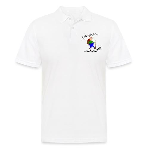 Wanderer und Gipfelstürmer mit Wanderlust - Männer Poloshirt
