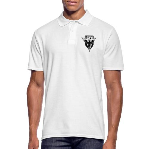 isfa logo 1c schwarz - Männer Poloshirt