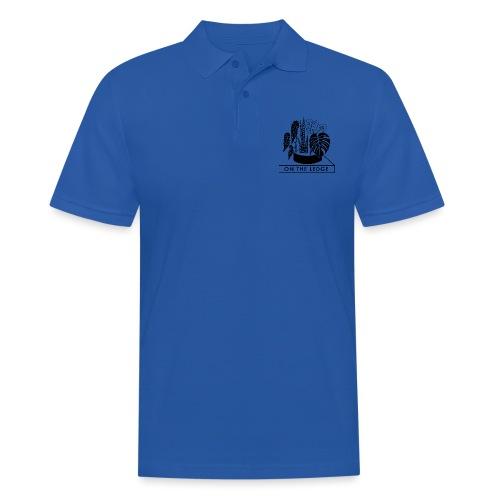 On The Ledge black and white logo - Men's Polo Shirt