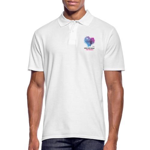 Mein Herz brennt für Freiheit! - Männer Poloshirt