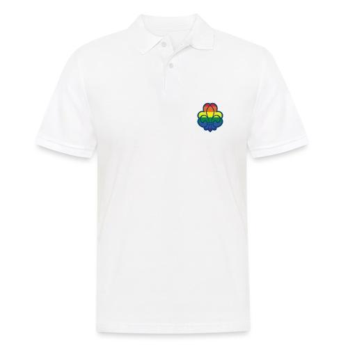 Regnbuespejder hvide t-shirts - Herre poloshirt