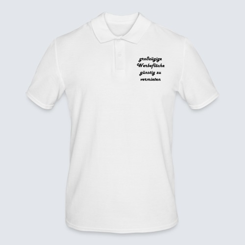 großzügige Werbefläche - Männer Poloshirt