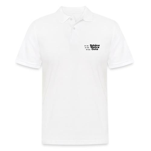 Schöne, Gute, Wahre - Männer Poloshirt