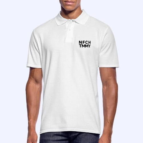 Einfach Tommy / NFCHTMMY / Black Font - Männer Poloshirt