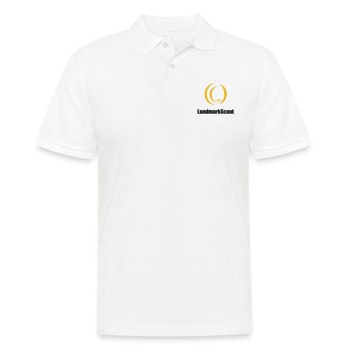 Tshirt White Front logo 2013 png - Men's Polo Shirt