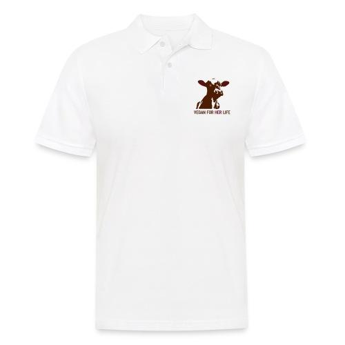 vegan for her life - Männer Poloshirt