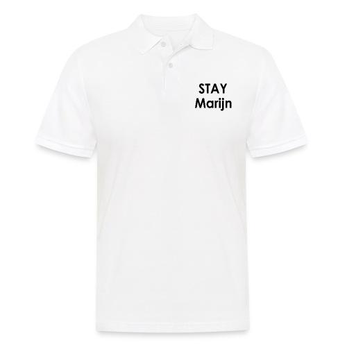 stay marijn black - Mannen poloshirt