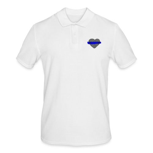 serduszko blu - Koszulka polo męska