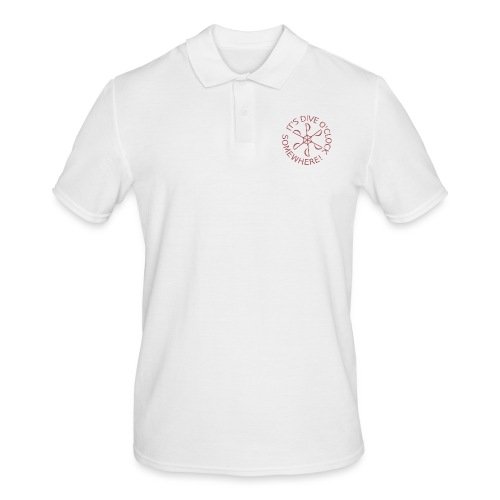 diveoclocklogodpink png - Men's Polo Shirt