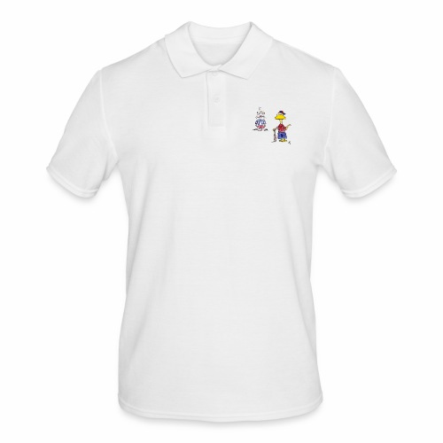 Cartoon Baseball - Männer Poloshirt