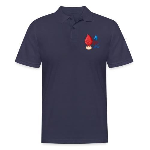 Blut ist dicker als Wasser lustig - Männer Poloshirt