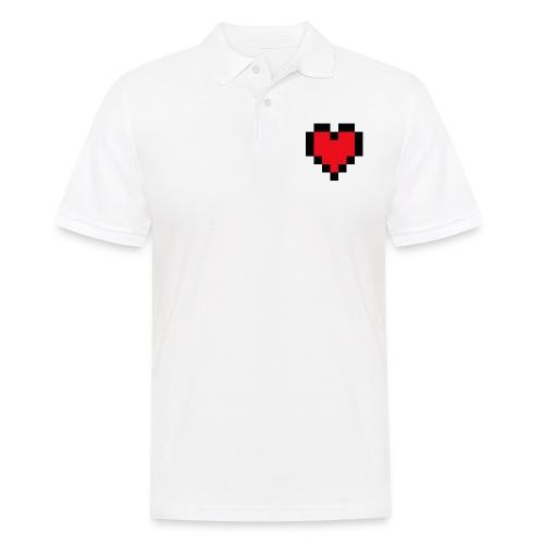 Pixel Heart - Mannen poloshirt