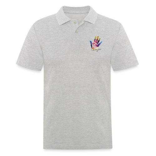 logo_signatur - Poloskjorte for menn