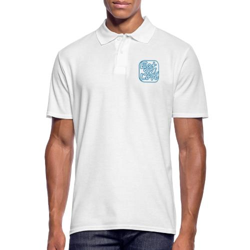 eat ski love - Mannen poloshirt