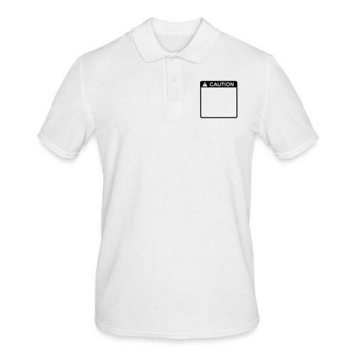 Caution Sign (1 colour) - Men's Polo Shirt