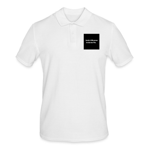 Willkommen im Falschen Film - Männer Poloshirt