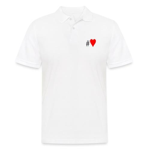 Hashtag Heart - Men's Polo Shirt