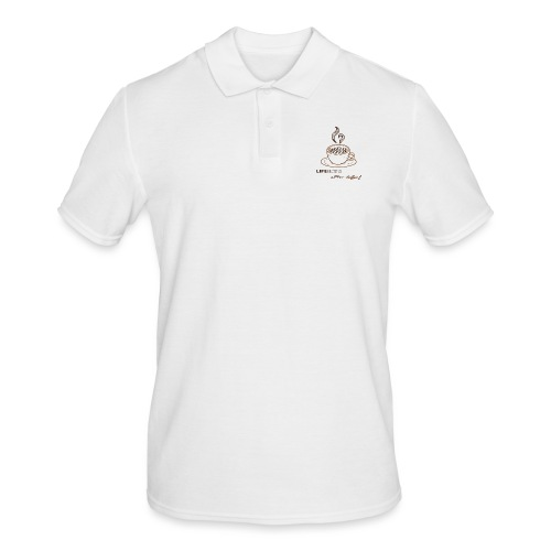 life begins after coffee - Polo Homme