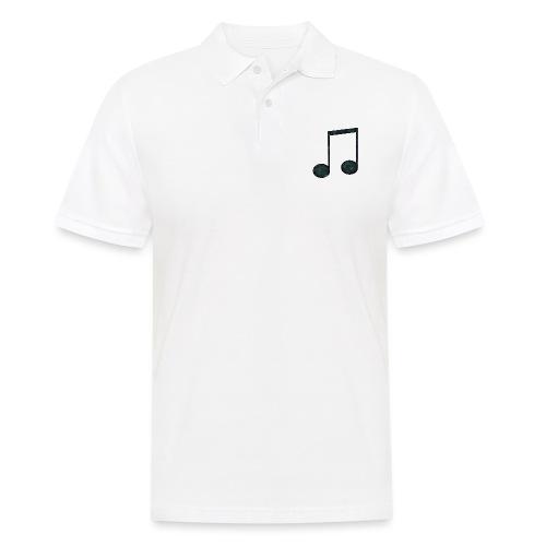 Low Poly Geometric Music Note - Men's Polo Shirt