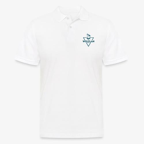 WolfLAN Logo Gray/Blue - Men's Polo Shirt
