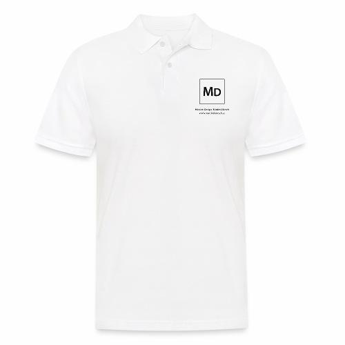 MD Logo - schwarz - Männer Poloshirt