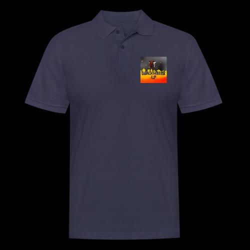 Waschbeer Design 2# Mit Flammen - Männer Poloshirt