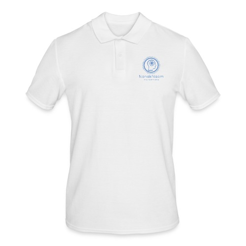 Nanak Naam Logo and Name - Blue - Men's Polo Shirt