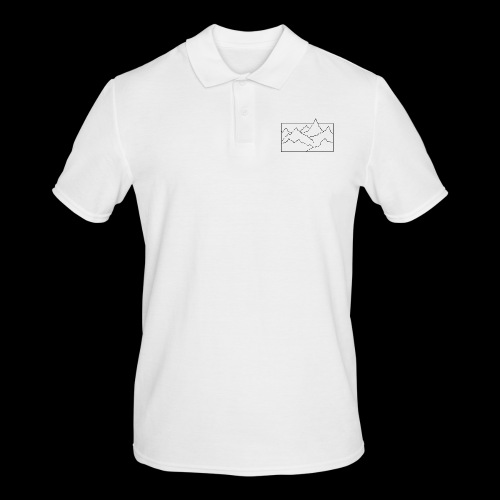 Kontur Gebirge schwarz - Männer Poloshirt
