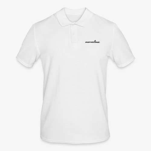 merveilleux. Black - Men's Polo Shirt