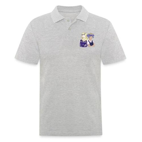 Sad-chan v1 & v2 Together - Arms Crossed - Men's Polo Shirt