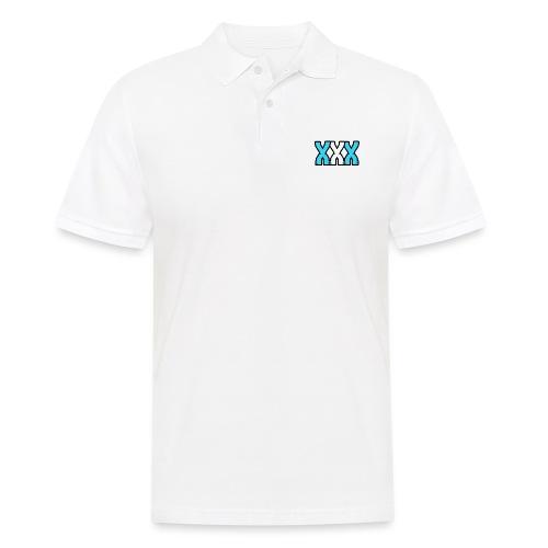 XXX (Blue + White) - Men's Polo Shirt
