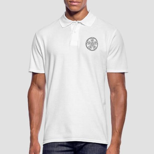 Treble Clef Mandala (white/black outline) - Men's Polo Shirt