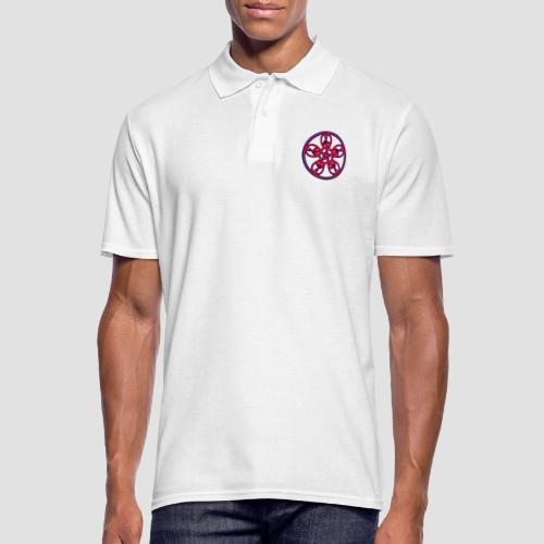 Treble Clef Mandala (red/violet/black) - Men's Polo Shirt