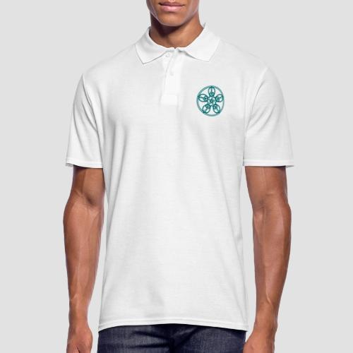 Treble Clef Mandala (teal) - Men's Polo Shirt