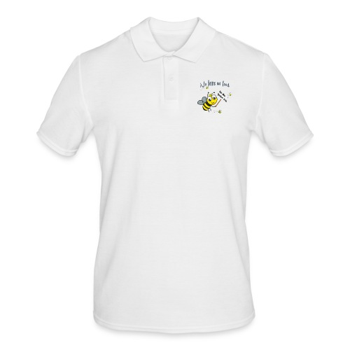 Save the bees with this cute design! Red de bij - Mannen poloshirt