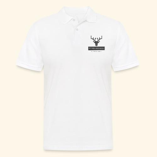 PIXELHIRSCH - grau - Männer Poloshirt