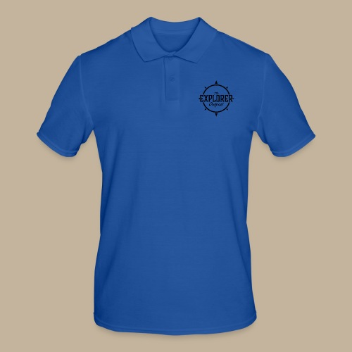 Black TEO Logo - Men's Polo Shirt