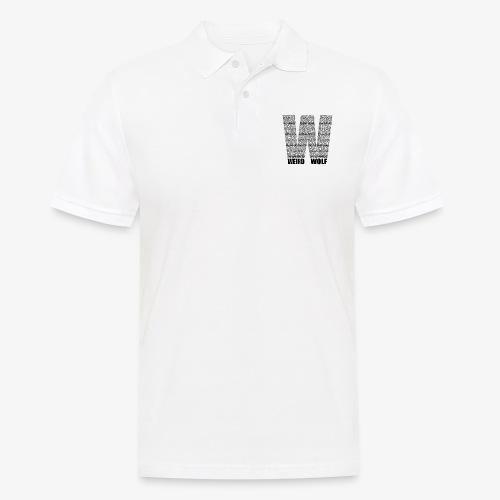 The Big W (Black) - Men's Polo Shirt