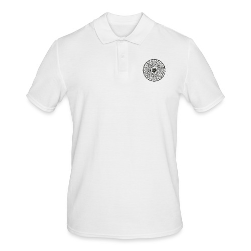 Mandala mit Schriftzug Love - Männer Poloshirt